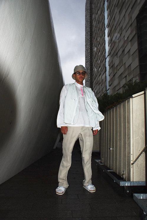 PORTVEL HALF ZIP PULLOVER SHIRT - White