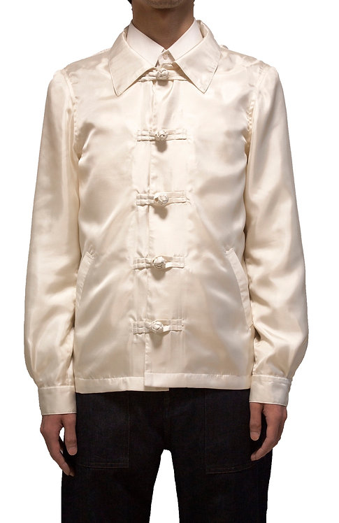 GENKOTSU CREATE KANG-Fu RIGHT COACH JACKET-WHITE