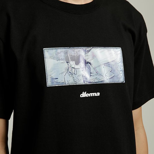 Dilemma Couple Lenticular Tshirt - Black