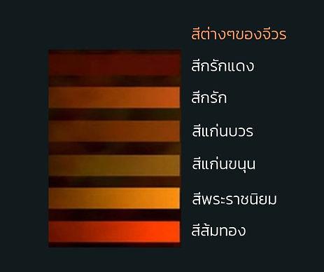 สีของผ้าไตรจีวร