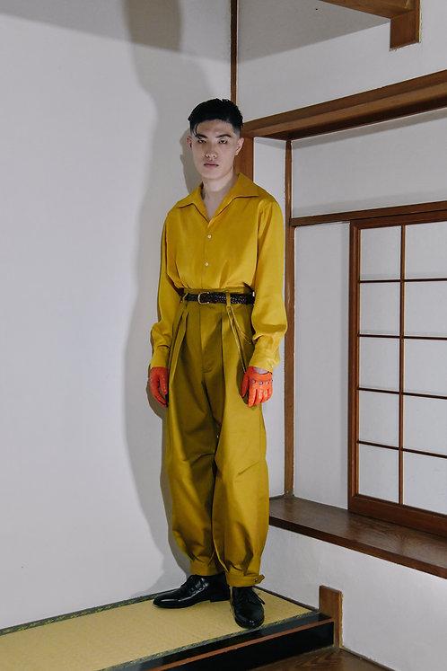 GENKOTSU CREATE GORO SHIRT -Italian collar -Yellow