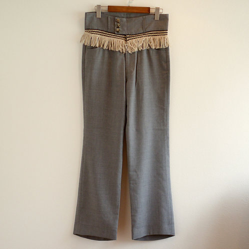 "RANDY Burned ""fringe pants"" - Grey"