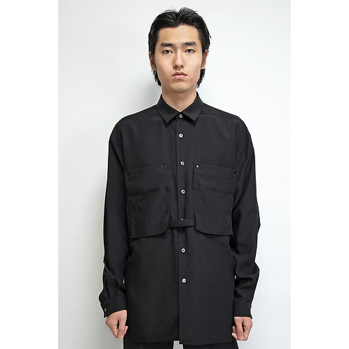 NULABEL CM1YOK42 Fall/Winter 2020 OFFICERS SHIRT - Black