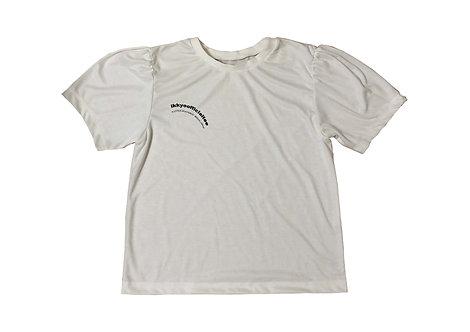一興-IKKYO OFFICIAL T-shirt White×Black