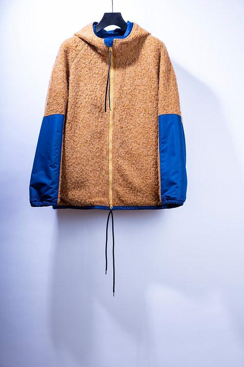 prasthana loop yarn zip parka - Camel