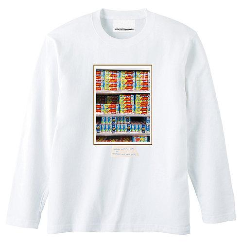 """<Pre Sale 40%OFF >L/S Tee """"Thailand Supermarket""""by Iriguchi Kenta -WHITE"""