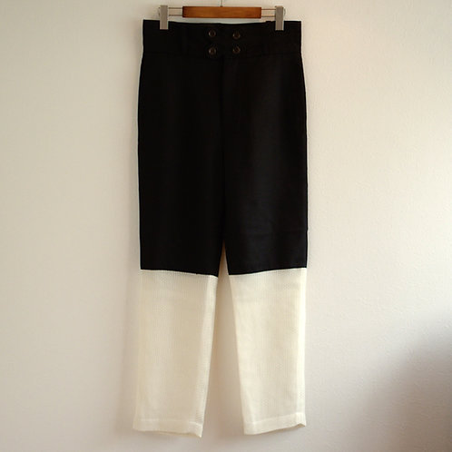 """RANDY Personal """"2 tone pants"""" - black × white"""