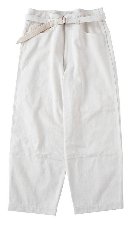 saby SUPER BIG PANTS - 12oz Bingo denime - White×Beige
