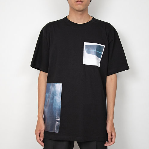 PORTVEL PRINT TEE - Black