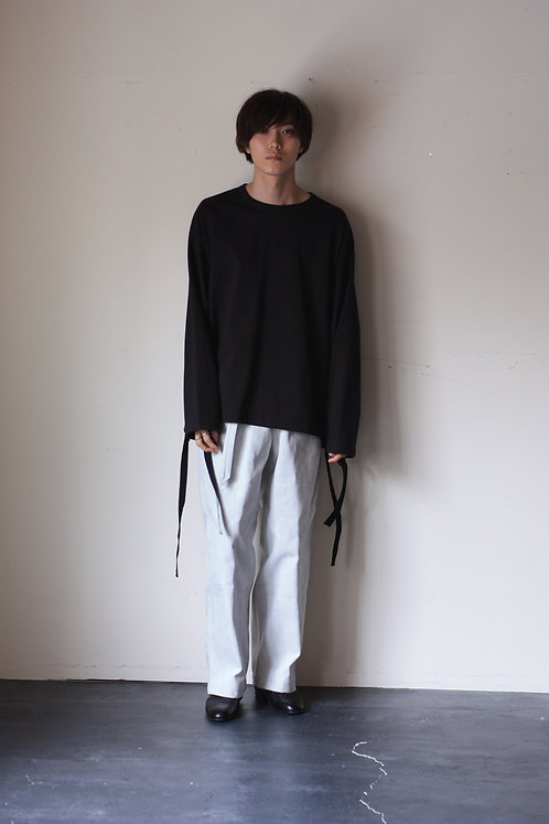 <Pre Sale 40%OFF>APOCRYPHA. Cotton Tape Dry Jersey Long Tee - Black
