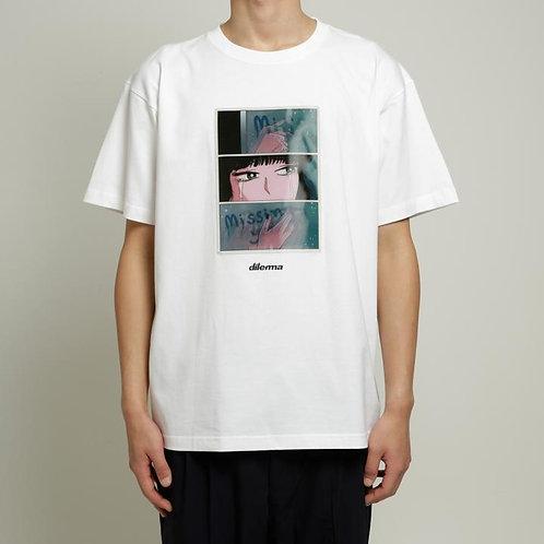 Dilemma Crying Girl Lenticular Tshirt -White