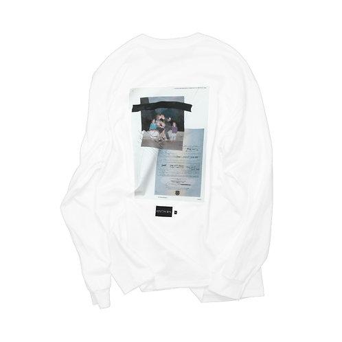 elephant TRIBAL fabrics L/S TEE(C-Photo) WHITE