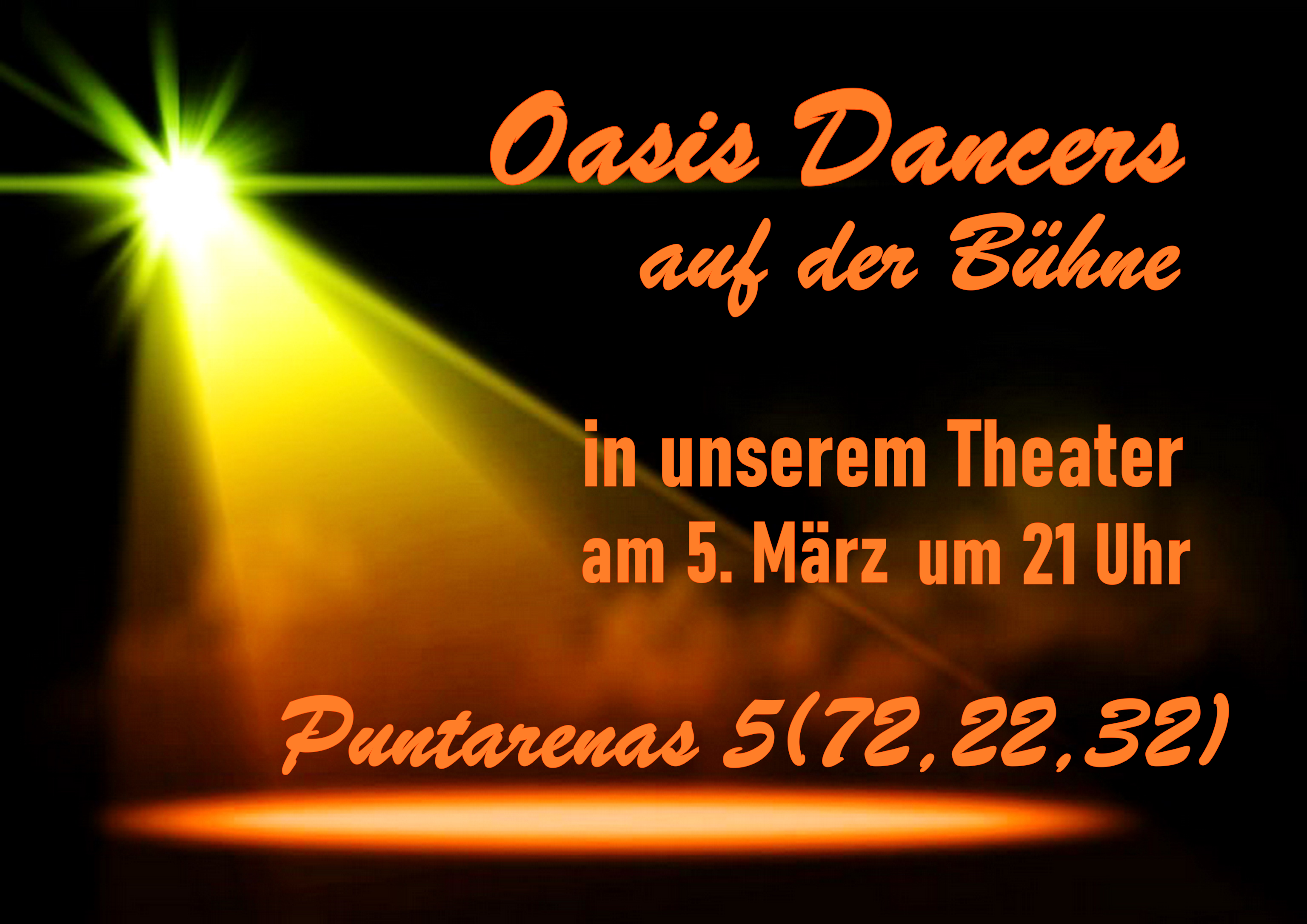 Show im Oasis Theater