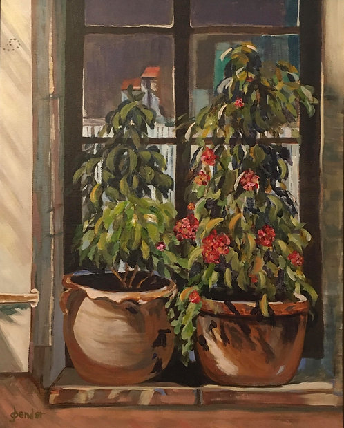 Flowers in the Window by Ginger Bender