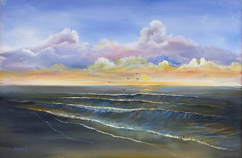 Sun Breaking Horizon by Ed Mosher