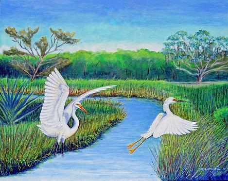 Marsh Wings by Dick Hamilton