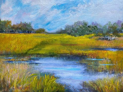 Winter Marsh by Lois Grunder