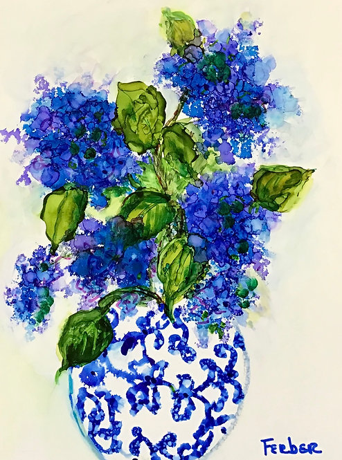 Hydrangea Arrangement by Sherry Ferber