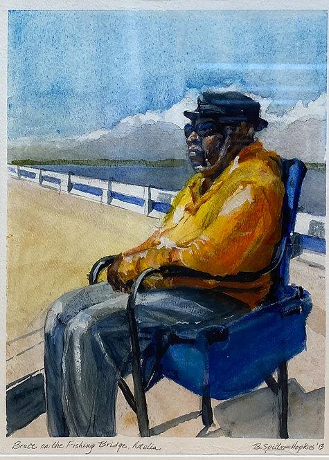 Bruce on the Fishing Bridge by Barbara Hopkins