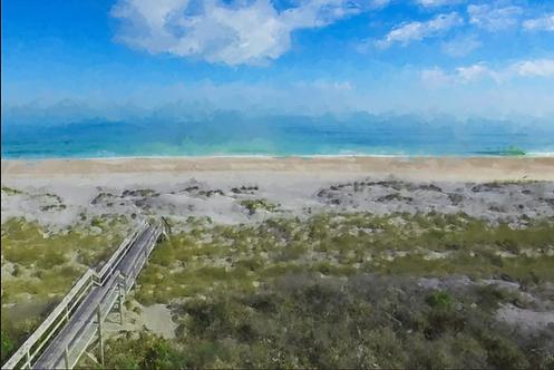 Beach Boardwalk Aerial by Stan Cottle