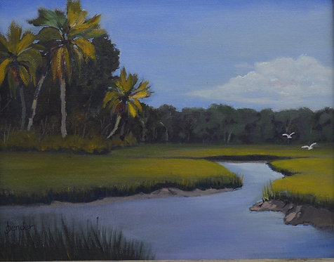 Scene at Ft George Island by Ginger Bender