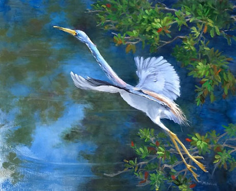 Ascending Heron by Rebecca McDannold