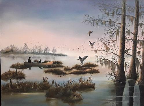 Sunrise on the Lake by Gary Johns