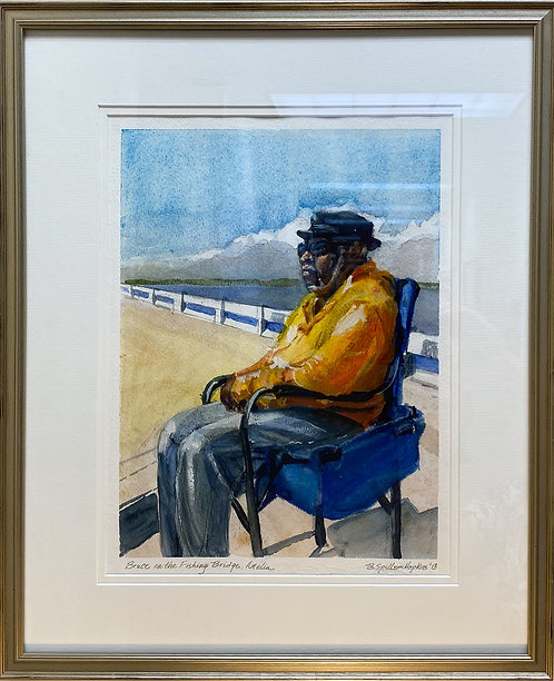 Bruce on the Fishing Bridge by Barbara Hopkins