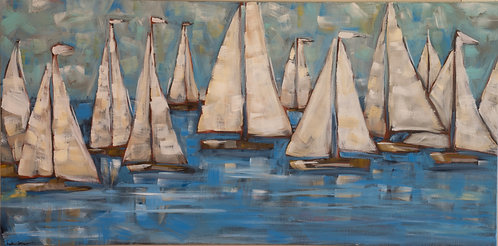 Sailboats by Trish Jones