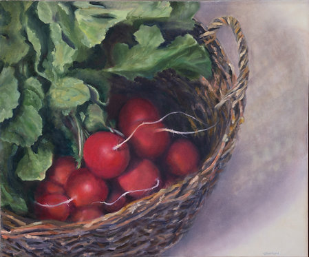 Basket of Radishes by Victoria Germond