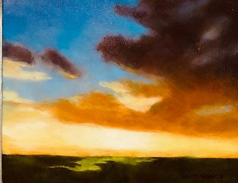 Marsh Sunset  by Depy Adams