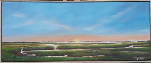 Sunset on Amelia Marshes by Gary Johns