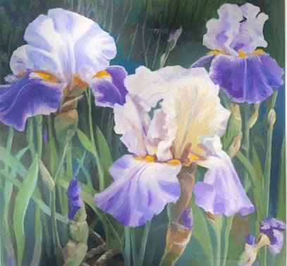 Purple Irises by Depy Adams