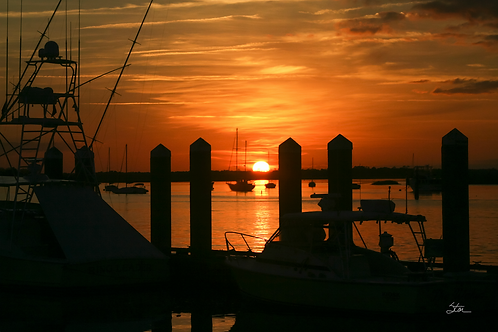 Marina Sunset by Stan Cottle