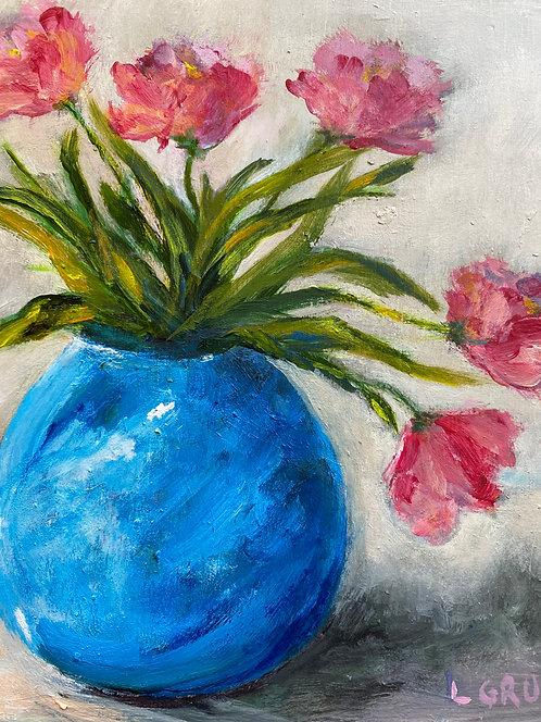 Blue Pottery by Lois Grunder