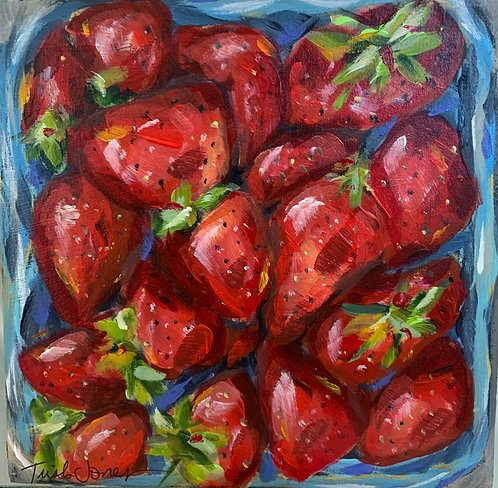 Pint of Strawberries by Trish Jones