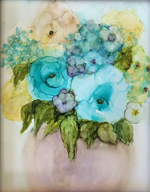 Blue Rose Bouquet by Sherry Ferber