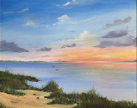 Ed Mosher - Sunset at Amelia State Park