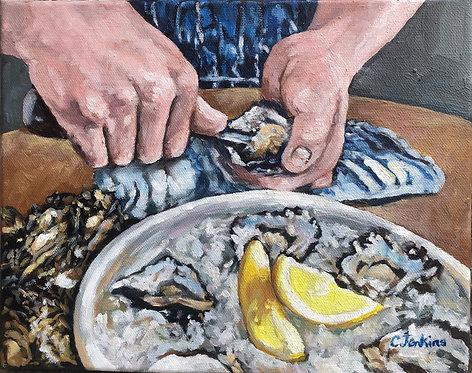 Shucking the Oysters by Cindy Jenkins