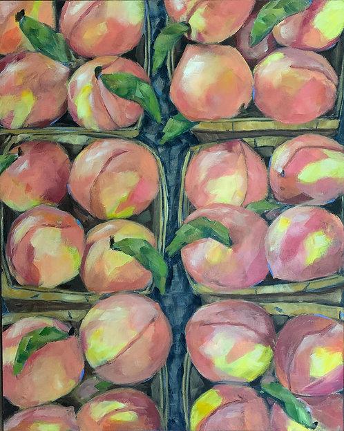 Peaches at the Farmer's Market  by Trish Jones
