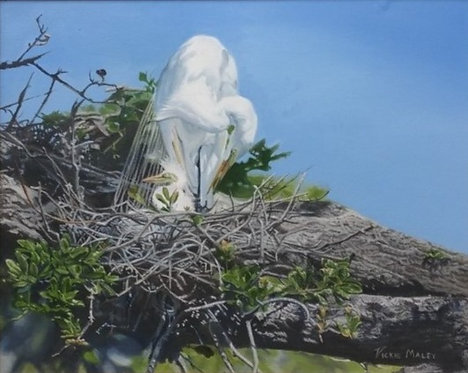 Mother and Chick by Vickie Maley