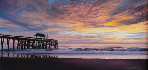 Morning at the Pier by Vickie Maley