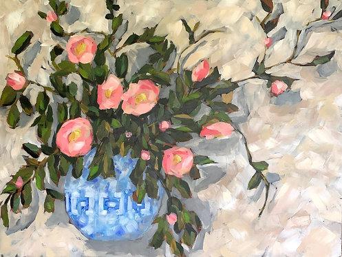 Camellias in Winter Bouquet by Trish Jones