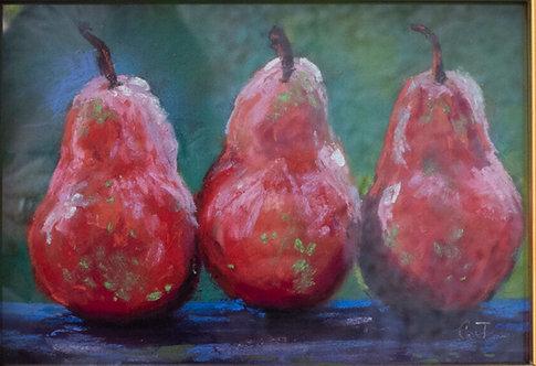 Bosc Pears by Cindy Jenkins