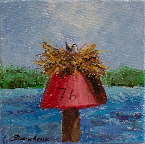 Mile Marker Red 76 by Ann Stanhope