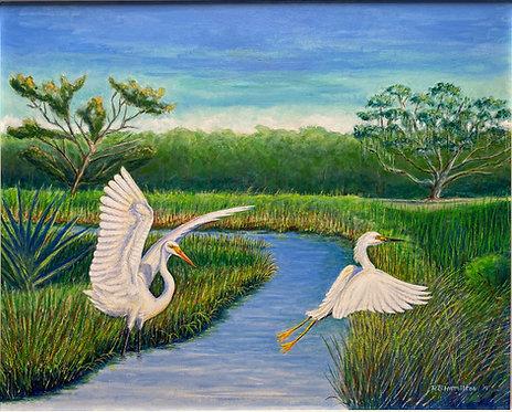 Marsh Scene by Dick Hamilton