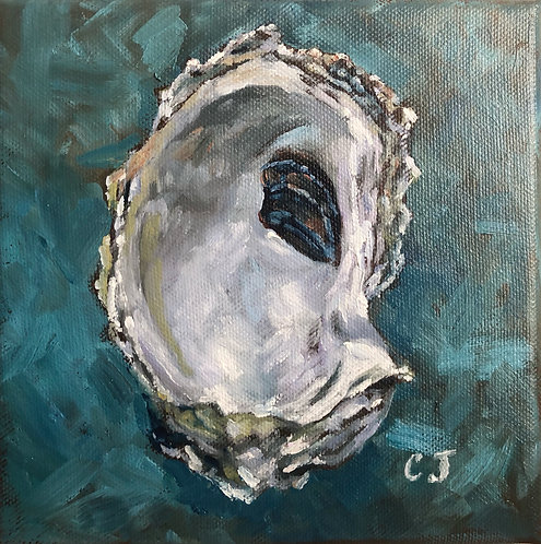 Teal Oyster II by Cindy Jenkins