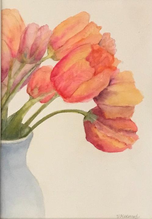 Tulip's in Vase by Victoria Germond
