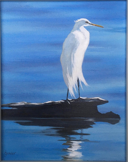 Great White Heron by Ginger Bender