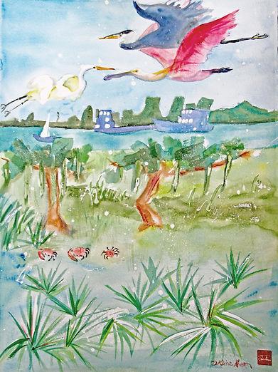 2021, Marsh Strata (watercolor, 30in x 22in).jpg